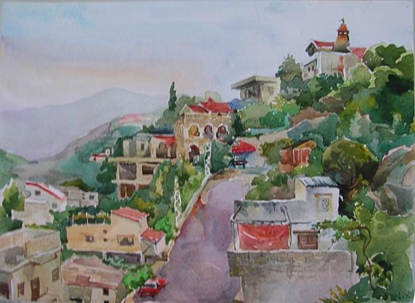 Вид с балкона, Сайда, Ливан