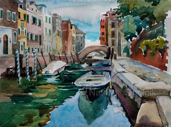 Припаркованная лодка, Венеция