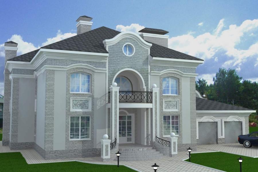 Визуализация фасадов котеджа, 2005