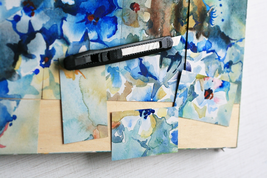 Watercolor business-cards