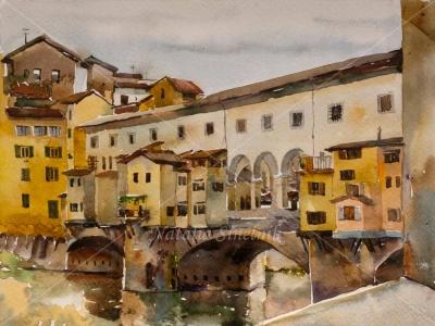 Rainy day at Ponte Vecchio